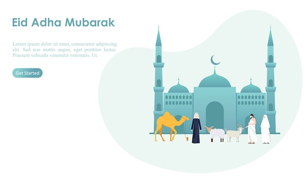Eid adha mubarak and hajj template