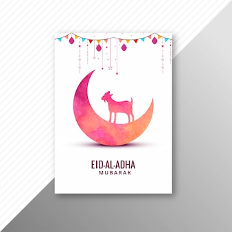 Eid al adha card with goat brochure