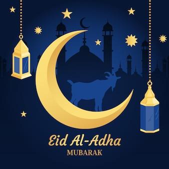 Eid al-adha celebration illustration