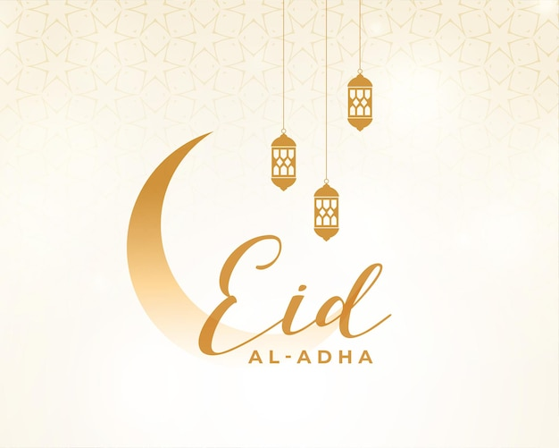 Eid al adha festival card in clean style