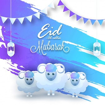 Eid-al-adha greetings background.