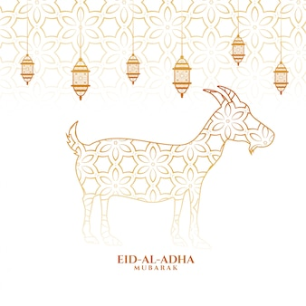Eid al adha islamic festival background