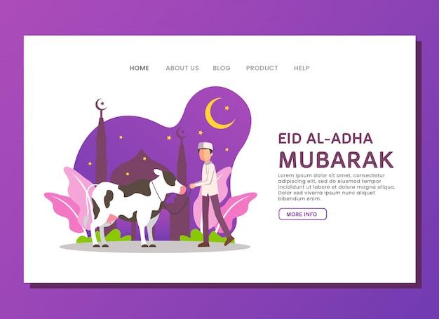 Eid al adha landing page concept