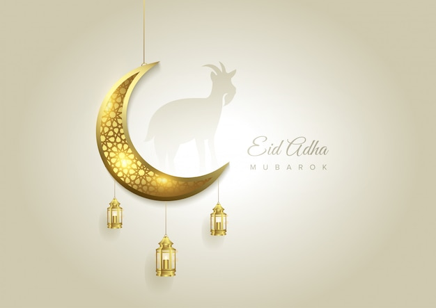 Eid al adha mubarak the celebration of muslim community festival background