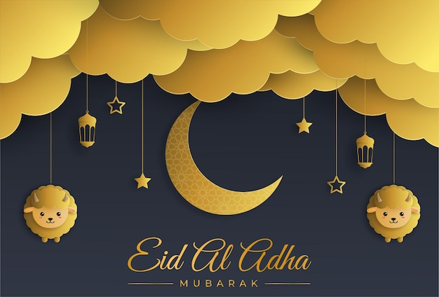 Eid al adha mubarak the celebration of muslim community festival