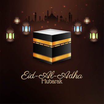 Eid al adha mubarak festival card