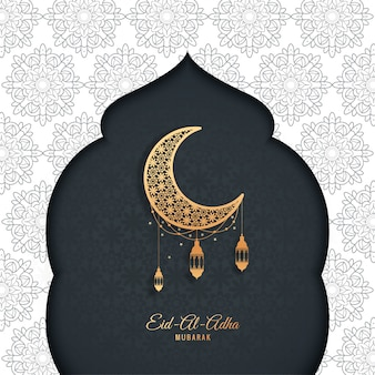 Eid-al-adha mubarak greeting card