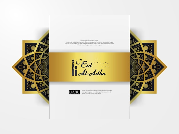 Eid al adha mubarak greeting design