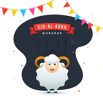Eid-al-adha mubarak with sheep