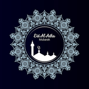 Eid al adha ornamental  with mandala