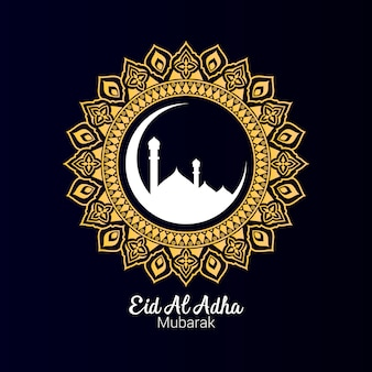 Eid al adha ornaments with mandala