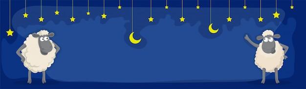 Eid-al-adhaのお祝いのためのソーシャルメディアのバナー。