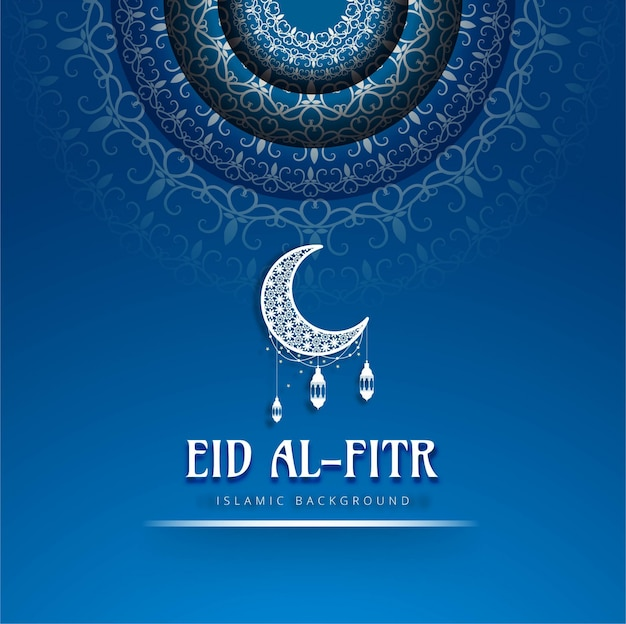Eid al fitr blue background