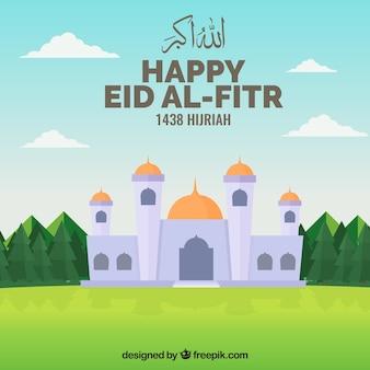Eid al fitr mosque background