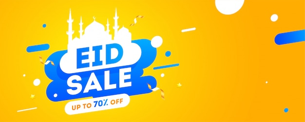 Eid al-fitr mubarak banner template, sale, discount and best offer