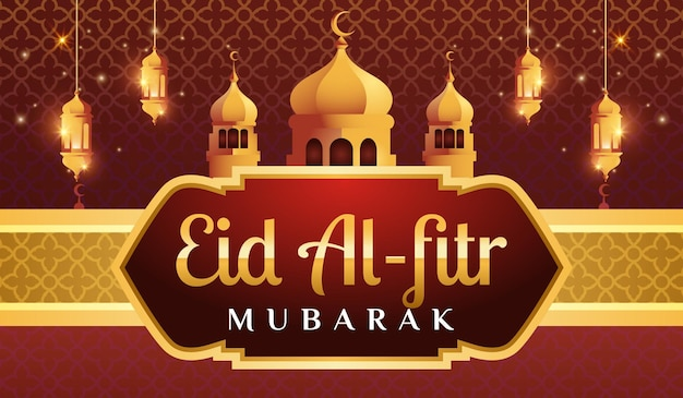 Eid al fitr mubarak 가로 배너
