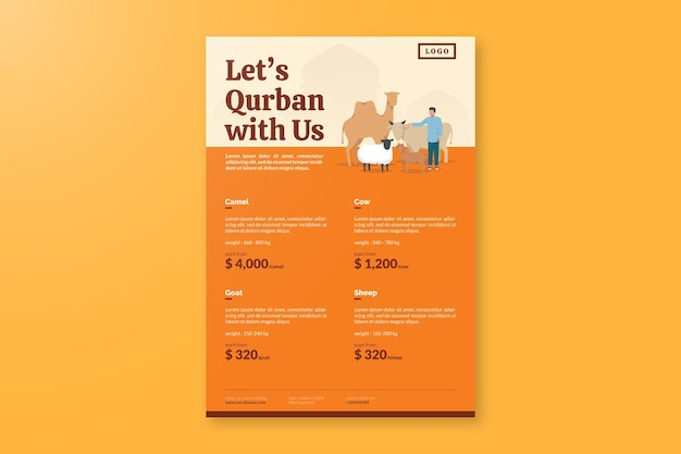 Eid aladha 가격표 전단지 디자인 서식 파일