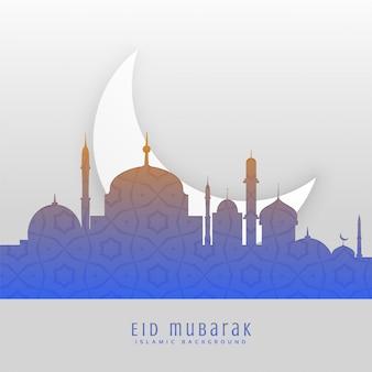 Eid festival beautiful greeting scene background