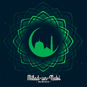 Eid milad un nabi festival card illustration