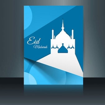 Eid mubarack flyer in abstract style