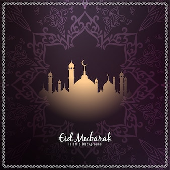 Eid mubarak artistic background