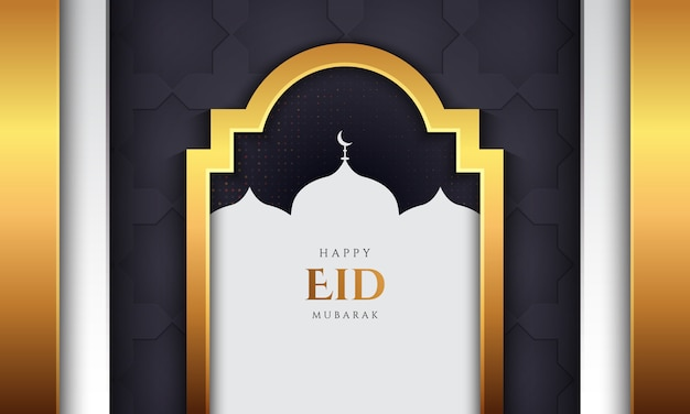 Eid mubarak background with luxury style