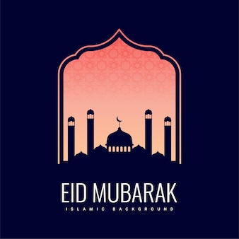 Eid 무바라크 축하 배경