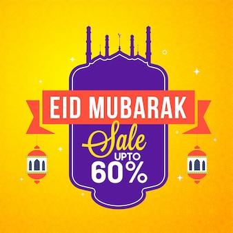 Eid mubarak celebration concept