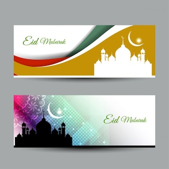 Eid mubarak striscioni colorati