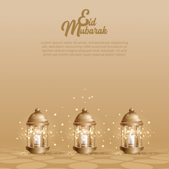 Eid mubarak design background.