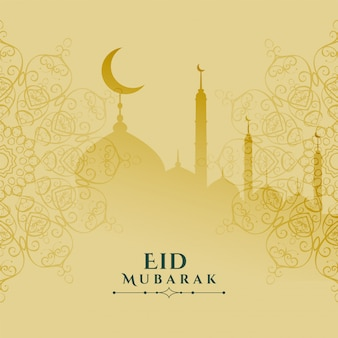 Eid mubarak festival card elegant design background