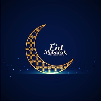 Eid mubarak festival celebration crescent moon