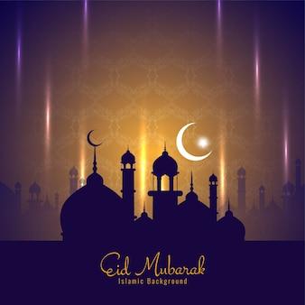 Eid mubarak festival decorative stylish background