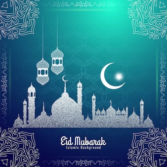 Eid mubarak festival decorative stylish