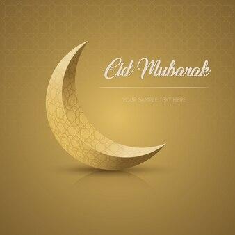 Eid mubarak greeting card in elegant style.