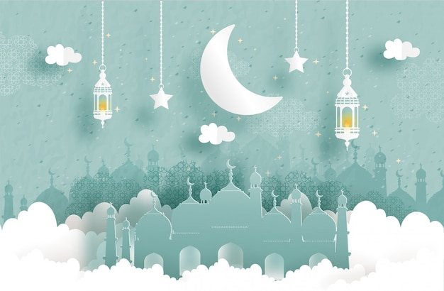 Eid mubarak greeting card,
