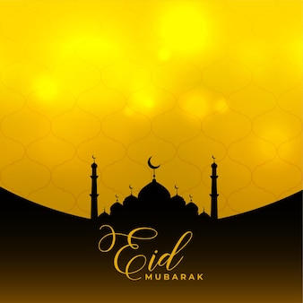 Eid mubarak islamic background with mosque design