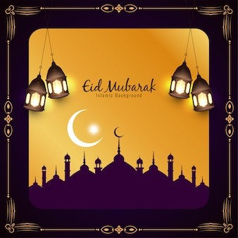 Eid mubarak islamic festival background
