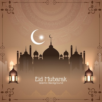 イードムバラクイスラム祭の古典的な背景
