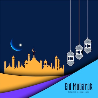 Eid mubarak islamic festival modern background
