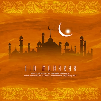 Eid mubarak islamic religious background design