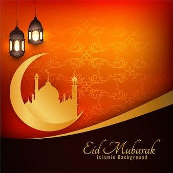 Eid mubarak islamic stylish background