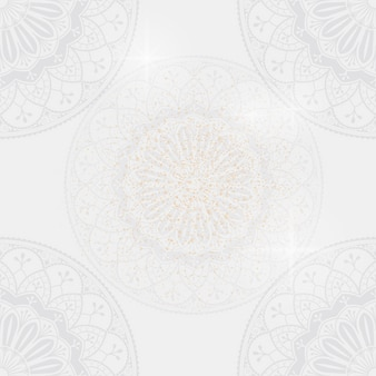 Eid mubarak lotus background vector