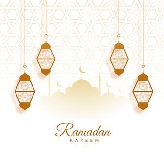 Eid 무바라크 라마단 카림 축제 카드 디자인