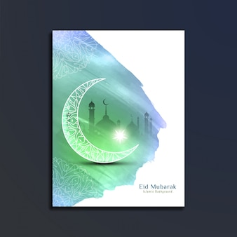 Eid mubarak religious card design