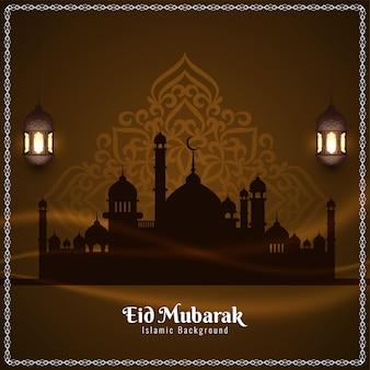 Eid mubarak religious festival greeting background