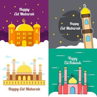 Eid mubarak vector illustration