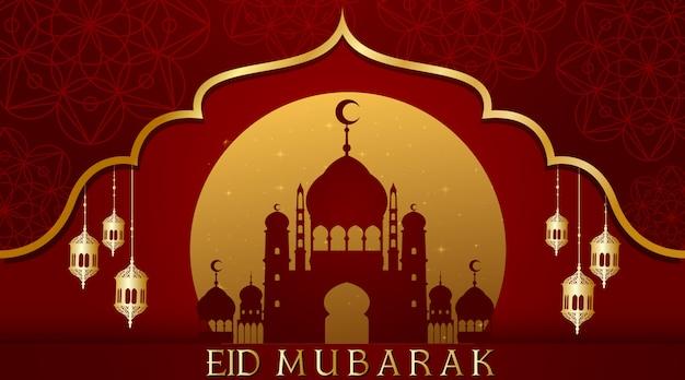 イスラム教徒の祭りeid mubarak背景