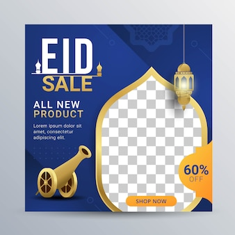 Eid sale social media banner post template