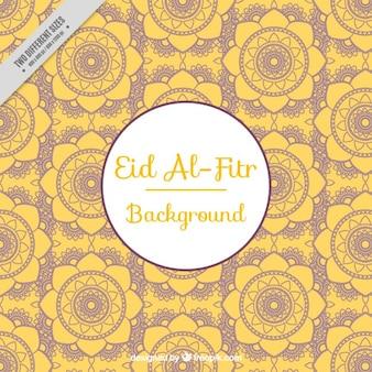 Eidの黄色の花の背景